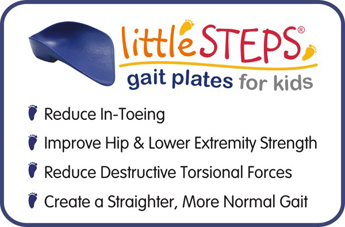 Features of littleSTEPS® gait plates for kids, the prefab that fits like a custom!